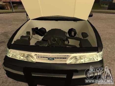 Ford Crown Victoria 1994 Police para visión interna GTA San Andreas