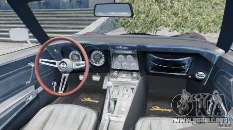 Chevrolet Corvette Stingray para GTA 4 vista lateral