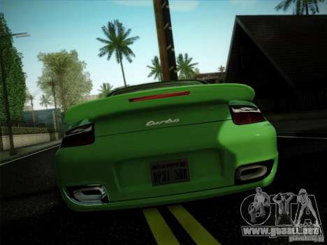 Porsche 911 (997) turbo para GTA San Andreas left