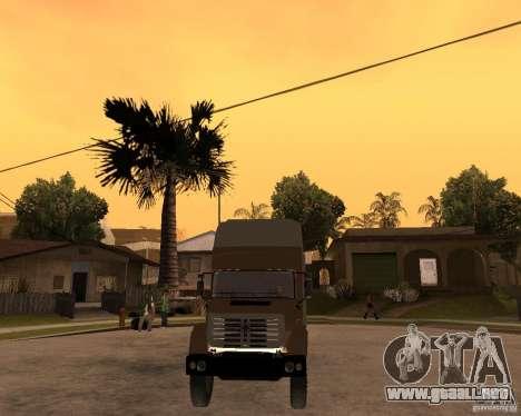 SuperZiL v. 2.0 para GTA San Andreas vista hacia atrás