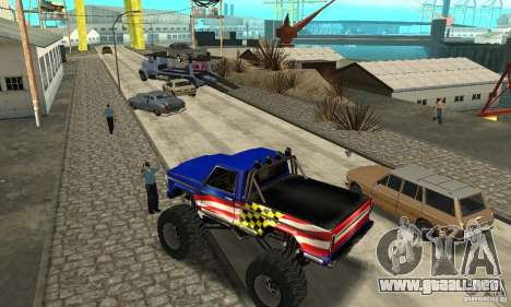 Avtoparkovŝik para GTA San Andreas quinta pantalla