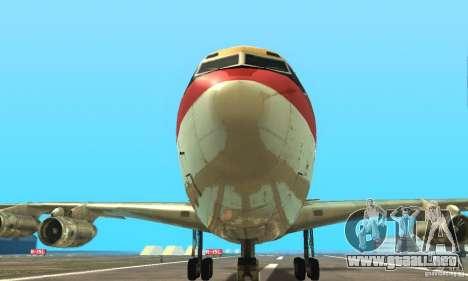 Boeing 707-300 para la visión correcta GTA San Andreas
