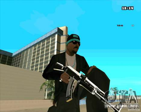 Chrome Weapon Pack para GTA San Andreas novena de pantalla