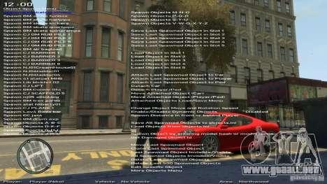 Entrenador de simple versión 6.2 para 1.0.1.0-1. para GTA 4 quinta pantalla