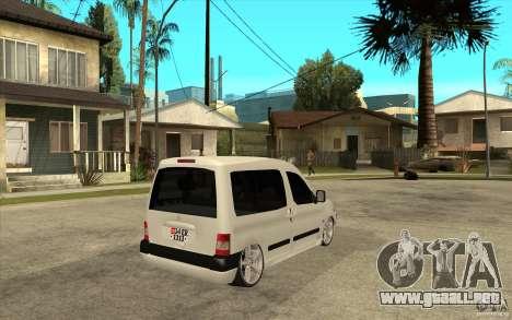 Citroen Berlingo 2007 para la visión correcta GTA San Andreas