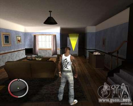 Nueva Jersey para CJ para GTA San Andreas segunda pantalla