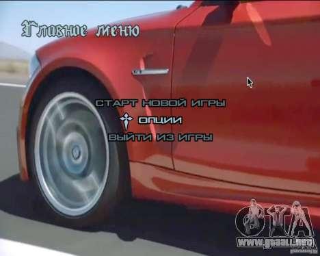 En el menú de video de fondo para GTA San Andreas