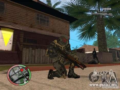 Colección de armas de Crysis 2 para GTA San Andreas tercera pantalla