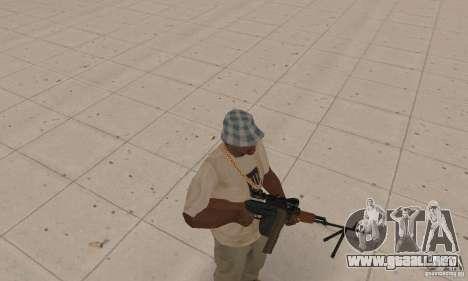 La portátil ametralladora Kalashnikov para GTA San Andreas segunda pantalla
