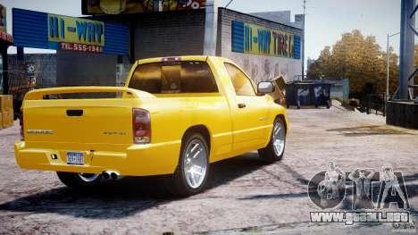 Dodge Ram SRT-10 2003 1.0 para GTA 4 Vista posterior izquierda