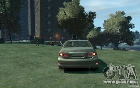 Toyota Corolla 2008 para GTA 4 visión correcta