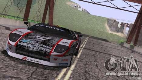 Ford GT Matech GT3 Series para visión interna GTA San Andreas