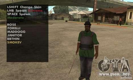 Skin Selector v2.1 para GTA San Andreas sucesivamente de pantalla