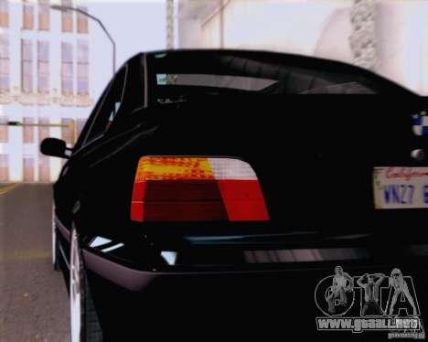 BMW M3 E36 New Wheels para visión interna GTA San Andreas