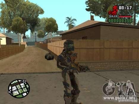 El traje de los juegos de Dead Space 2 para GTA San Andreas quinta pantalla