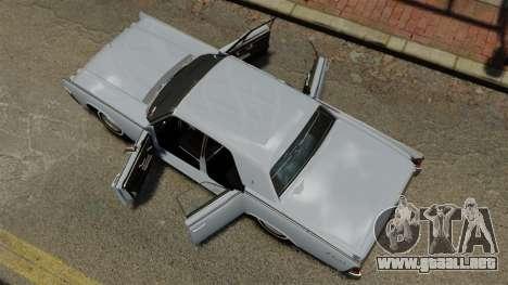 Lincoln Continental 1962 para GTA 4 visión correcta