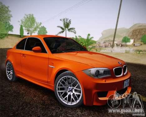 BMW 1M v2 para GTA San Andreas vista hacia atrás