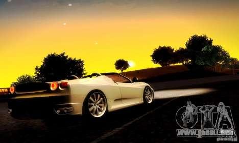Ferrari F430 Spider para GTA San Andreas vista hacia atrás