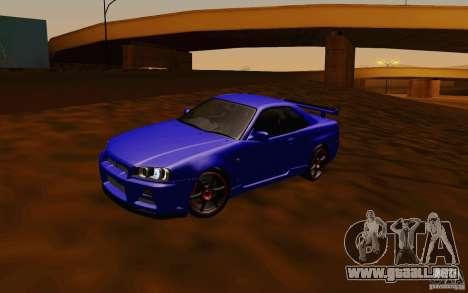 Nissan Skyline R34 GT-R V2 para GTA San Andreas