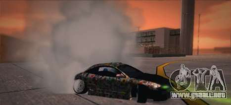 Mitsubishi Eclipse 1997 Drift para GTA San Andreas vista hacia atrás