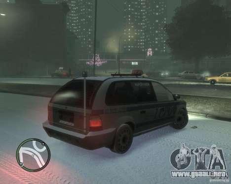 LCPD Minivan para GTA 4 visión correcta
