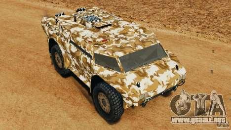 Armored Security Vehicle para GTA 4 vista desde abajo