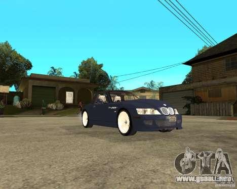 BMW Z3 Roadster para la visión correcta GTA San Andreas