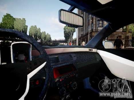 Chevrolet Camaro ZL1 para GTA 4 vista hacia atrás
