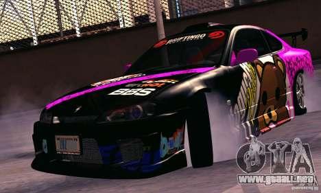 Nissan Silvia s15 tunable para la visión correcta GTA San Andreas