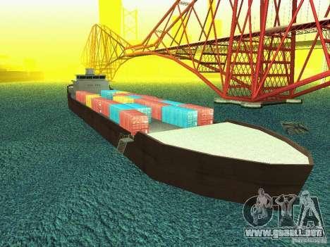 Drivable Cargoship para GTA San Andreas