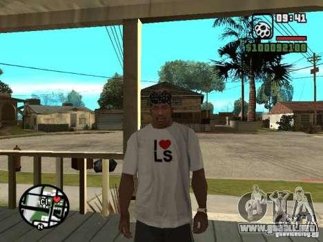 Rammstein camiseta v2 para GTA San Andreas sucesivamente de pantalla