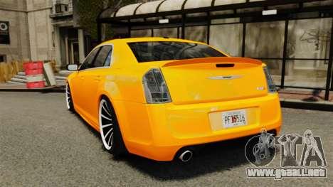 Chrysler 300 SRT8 LX 2012 para GTA 4 Vista posterior izquierda