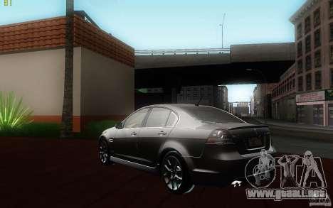 Pontiac G8 GXP 2009 para GTA San Andreas vista posterior izquierda