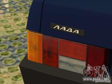 Vaz 2109 drenaje V2 para GTA San Andreas vista hacia atrás