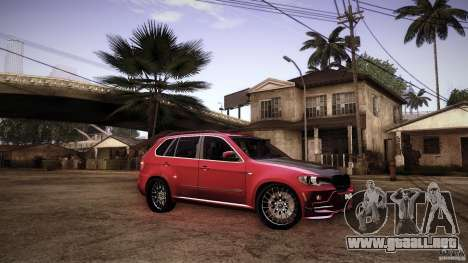 BMW X5 with Wagon BEAM Tuning para la vista superior GTA San Andreas