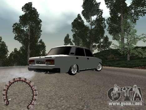 VAZ 2107 BPAN para la visión correcta GTA San Andreas