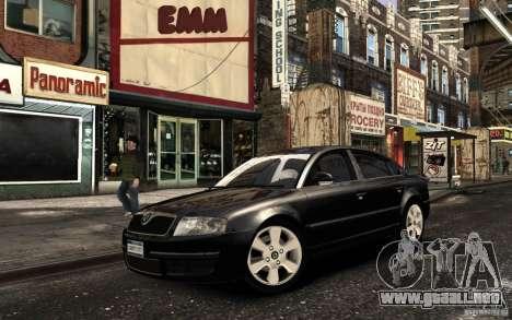Skoda SuperB para GTA 4 vista interior