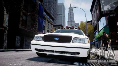 Ford Crown Victoria New Jersey State Police para GTA 4 ruedas