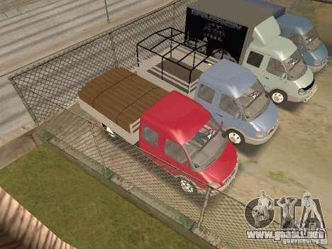 Granjero de gaz gacela 33023 para vista lateral GTA San Andreas
