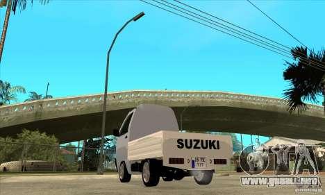 Suzuki Carry Kamyonet para GTA San Andreas vista posterior izquierda
