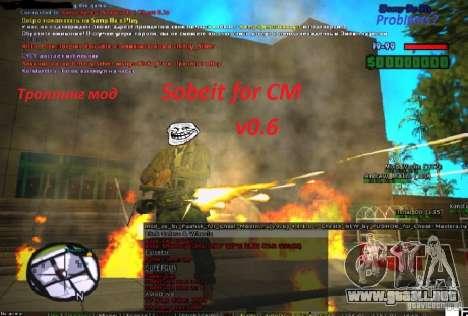 Sobeit for CM v0.6 para GTA San Andreas