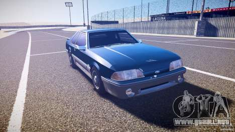 Ford Mustang GT 1993 Rims 1 para GTA 4 vista hacia atrás