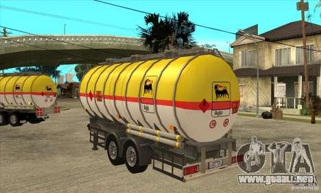Trailer Tunk para GTA San Andreas vista posterior izquierda