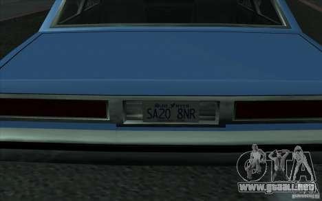 Civilian Police Car LV para GTA San Andreas vista hacia atrás