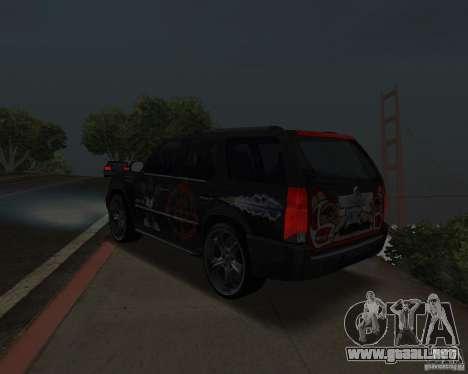 Cadillac Escalade para la visión correcta GTA San Andreas