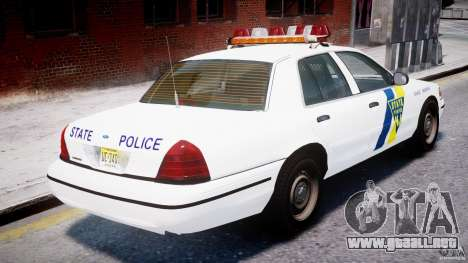 Ford Crown Victoria New Jersey State Police para GTA motor 4