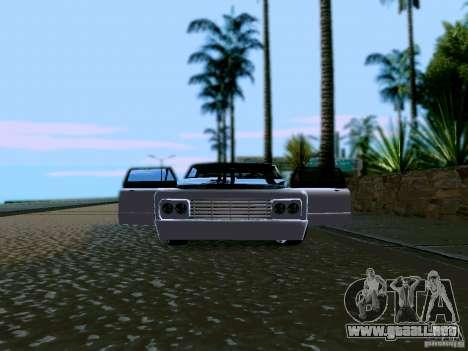 Slamvan Tuned para visión interna GTA San Andreas