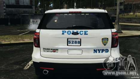 Ford Explorer NYPD ESU 2013 [ELS] para GTA 4 vista superior