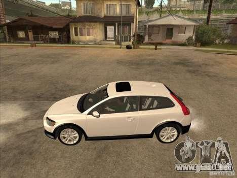 Volvo C30 para GTA San Andreas vista posterior izquierda
