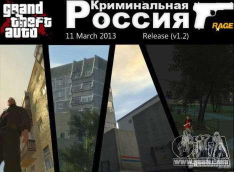 Criminal Rusia rabia v1.2 para GTA 4